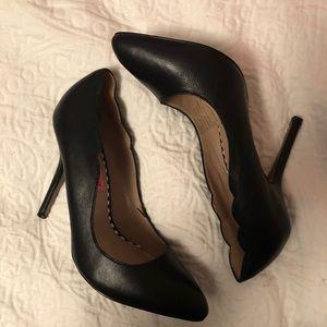 Betsey Johnson RACIEE1 Black Leather Stilettos